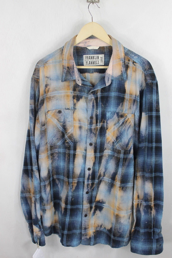 Vintage Blue Flannel Size Large