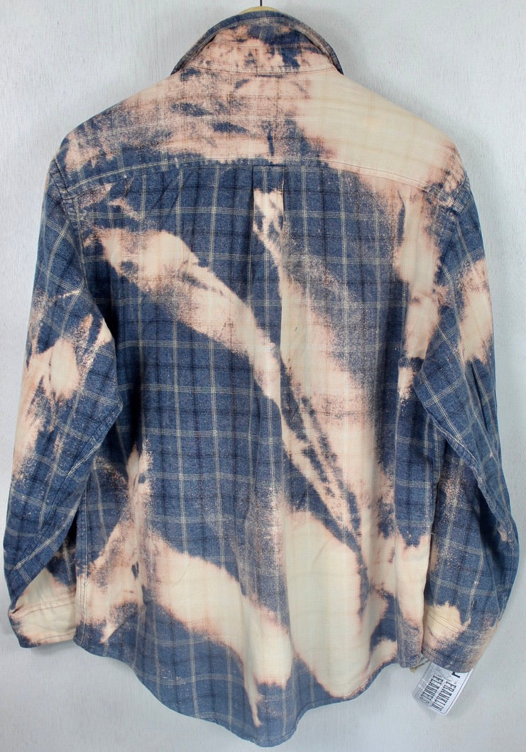 Vintage Blue and Peach Flannel Size Large