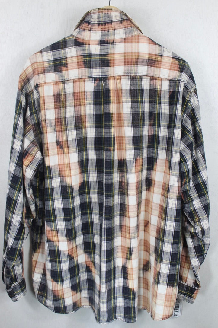 Vintage Forest Green, Navy Blue and Dusty Rose Flannel Size XL