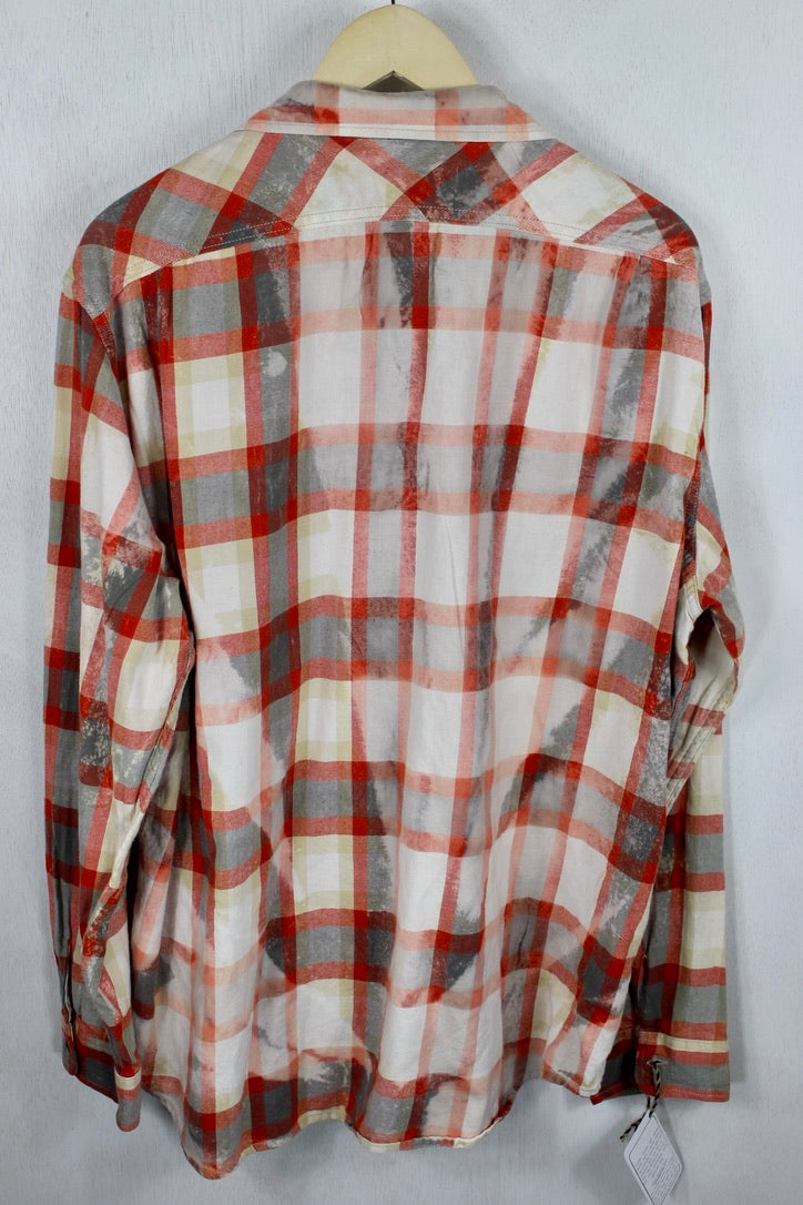 Vintage Red and White Flannel Size Large