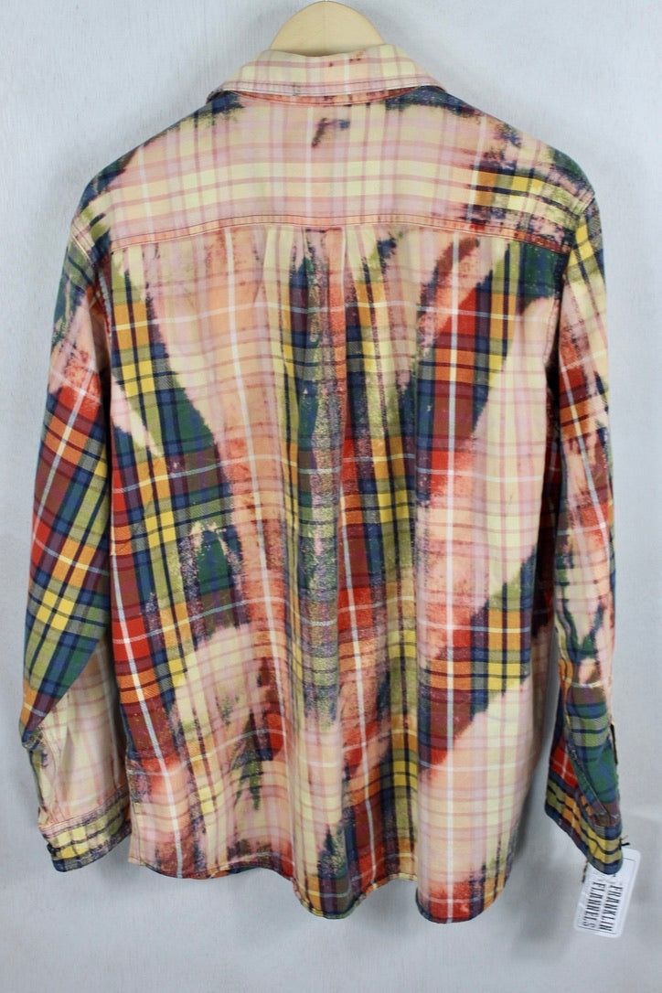Vintage Red, Blue, and Green Grunge Flannel Size Medium