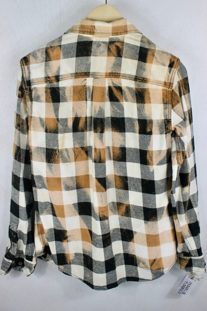 Vintage Black, White and Rust Flannel Size Small