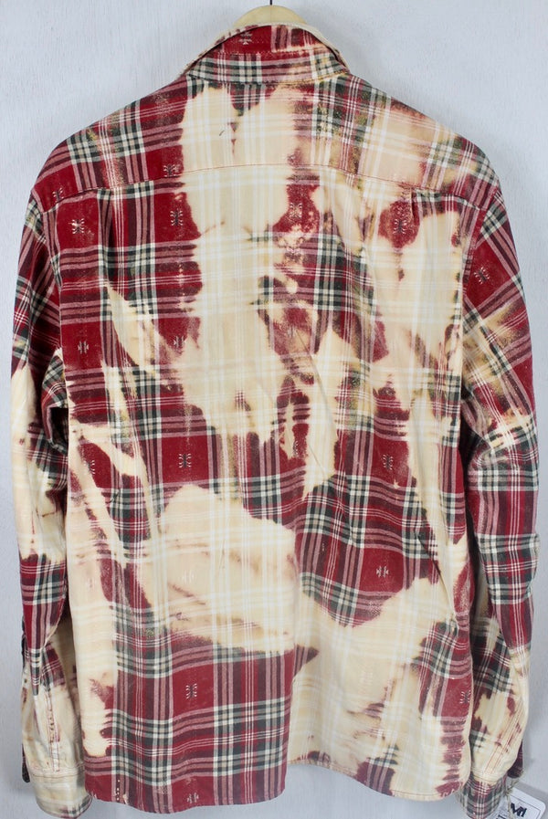 Vintage Red, Dark Grey and Cream Flannel Size Medium