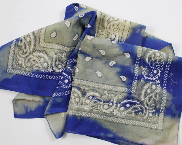 Royal Blue Reverse Dye Bandana