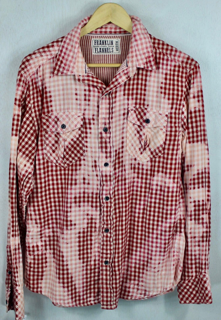 Vintage Red, White and Pink Checked Lightweight Size Medium