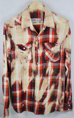 Vintage Red, Black and Cream Flannel Size Medium