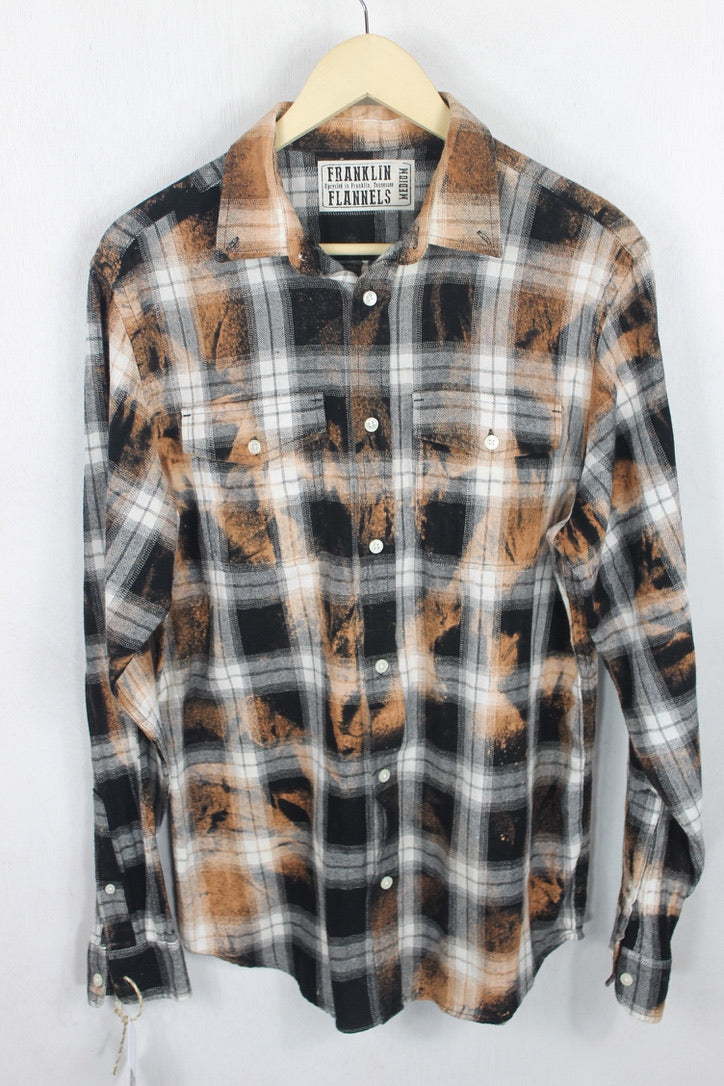 Vintage Rust and Black Flannel Size Medium
