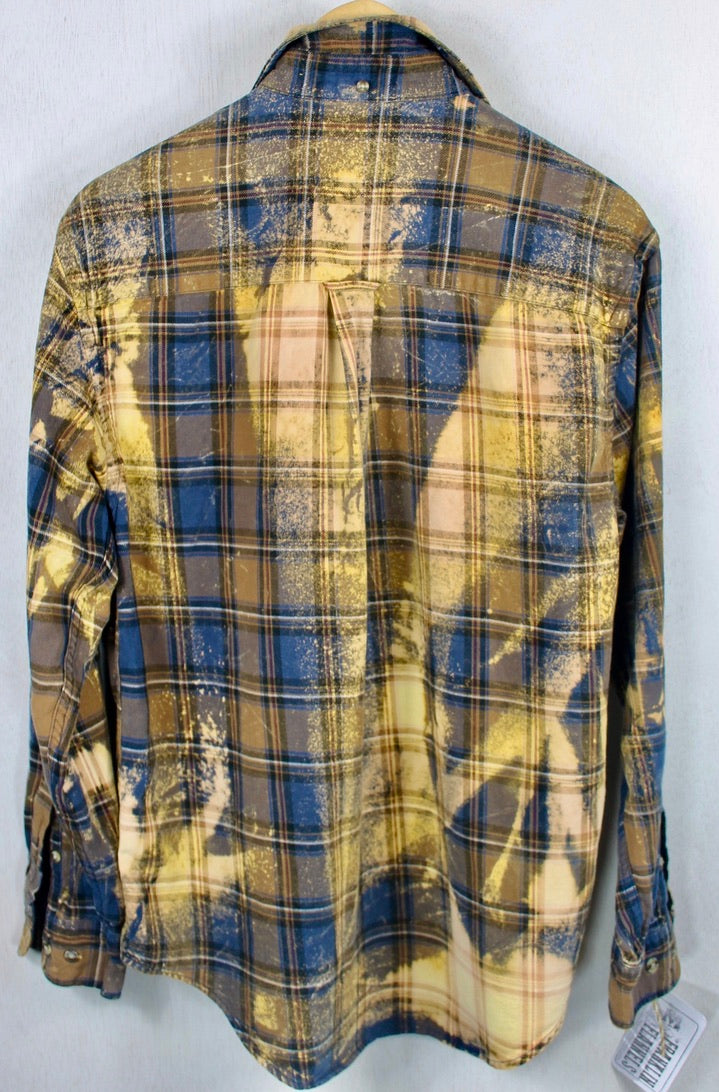 Vintage Navy Blue, Brown and Rust Flannel Size Medium
