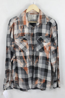Vintage Grey and Rust Flannel Size XL