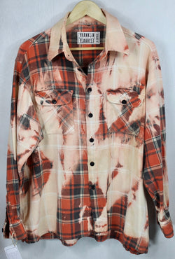 Vintage Orange, Grey and Cream Flannel Size XL