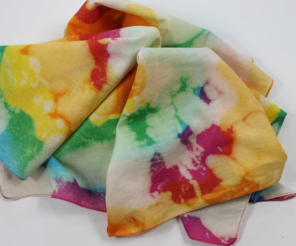 Tie Dye Multi-Colored Bandana