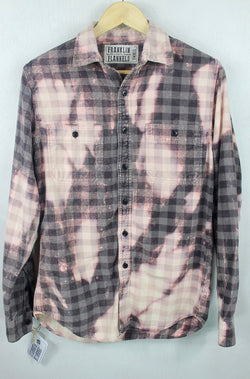 Vintage Pink and Taupe Flannel Size Small