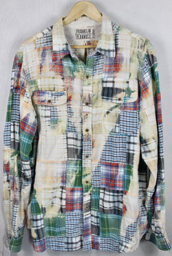 Vintage Multi-Colored Patchwork Flannel Size XL