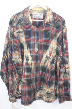 Vintage Black, Red, and Cream Flannel Size XL