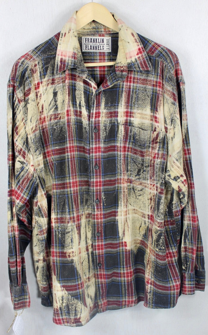 Vintage Black, Red and Sand Flannel Size XL