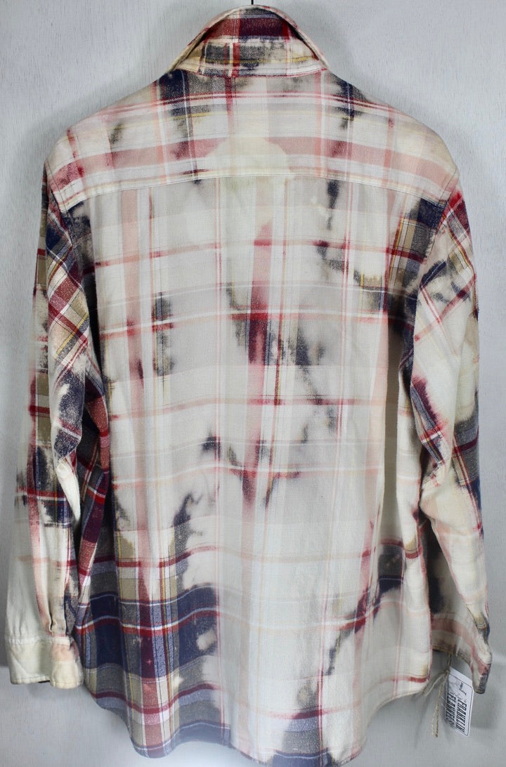 Vintage Red, White and Blue Flannel Size XL