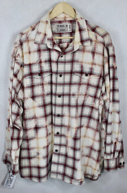 Vintage Burgundy, Cream and Light Grey Flannel Size XL
