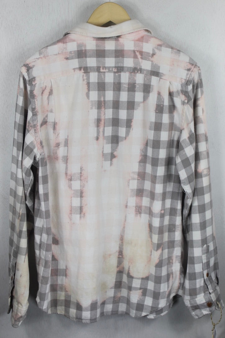 Vintage Grey and Cream Flannel Size Medium