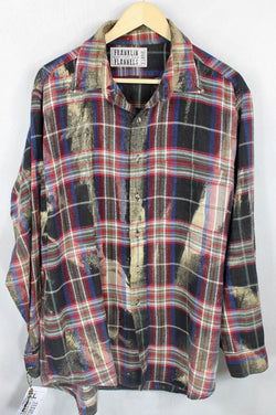 Vintage Black, Red, Blue and Cream Flannel Size XL