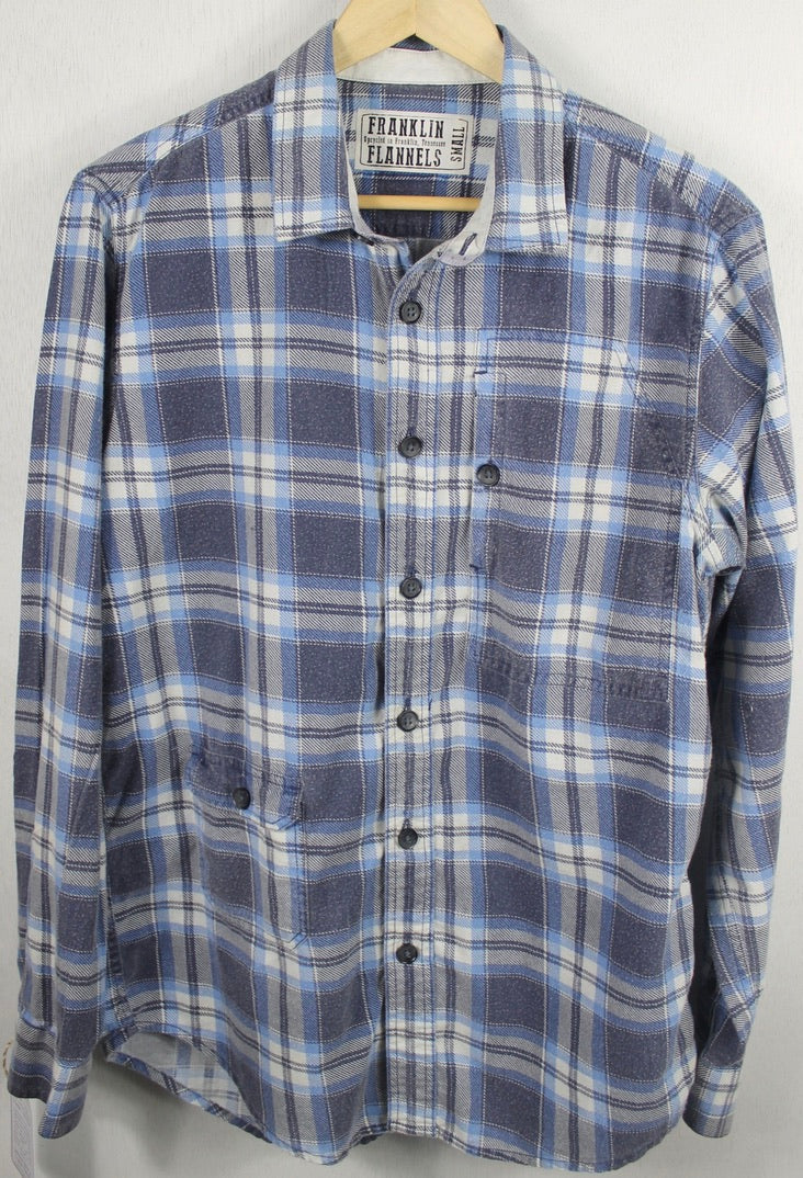 Vintage Faded Blue and White Flannel Size Small