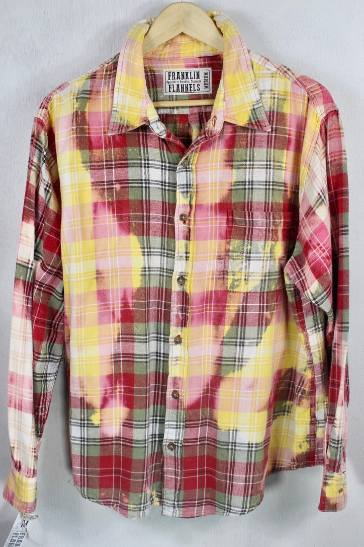 Vintage Cherry, Yellow, Pink and Cream Flannel Size Medium