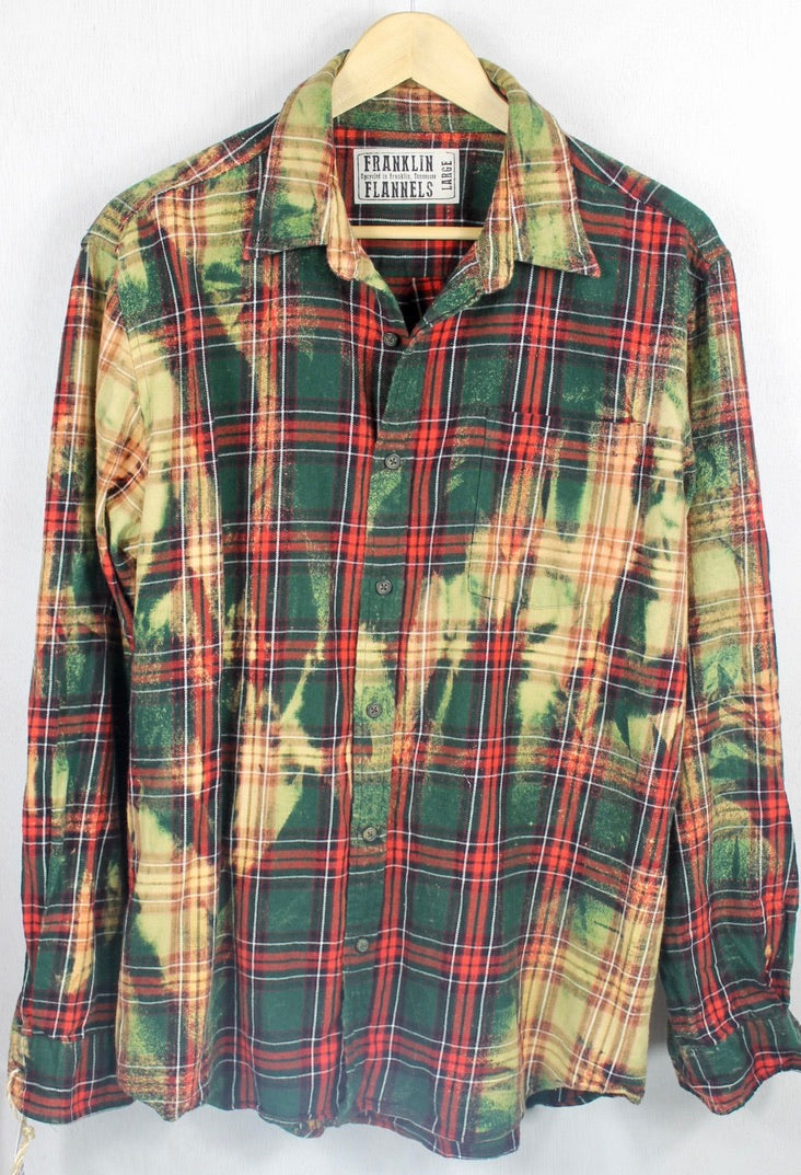 Vintage Green and Red Flannel Size Large