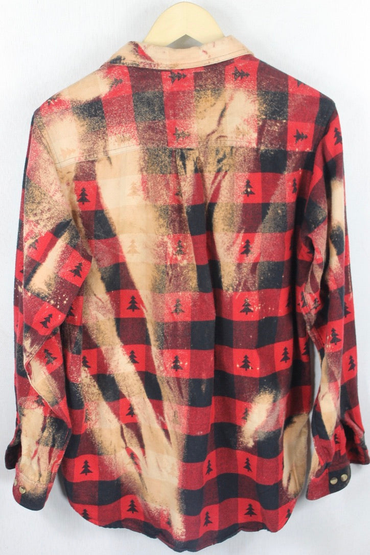 Vintage Red and Trees Flannel Size Small