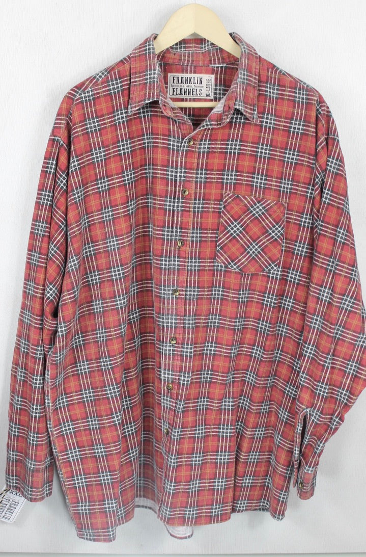 Vintage Retro Red, Brown and Gold Flannel Size XXL