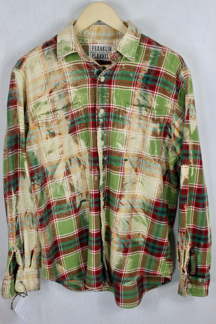 Vintage Green, Red, and Cream Flannel Size Medium