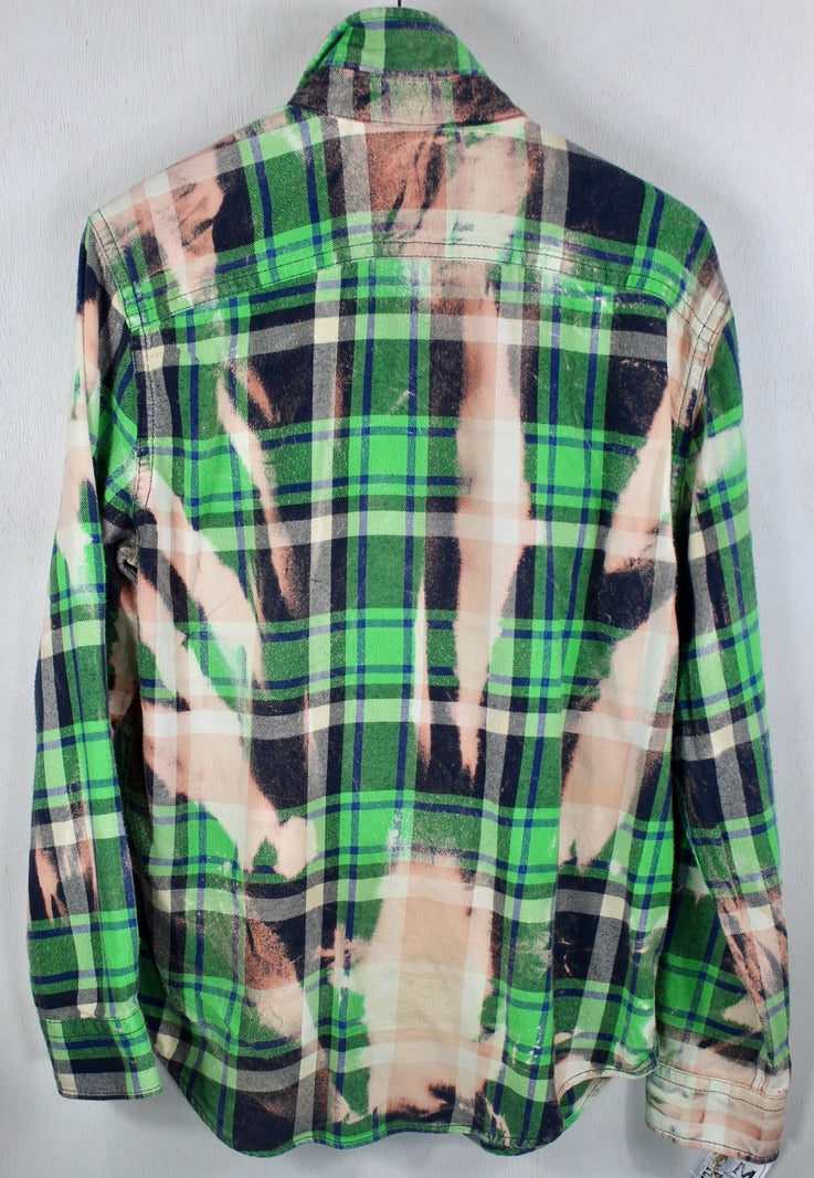 Vintage Green, Blue and Pink Flannel Size Medium