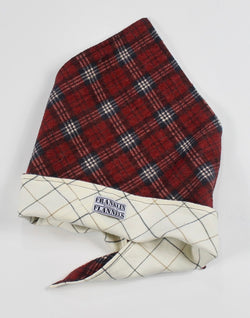 Burgundy, Navy Blue and Neutral Dog Bandana Size Large