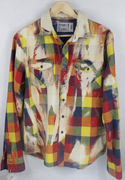 Vintage Yellow, Blue, Red and Green Flannel Size Small