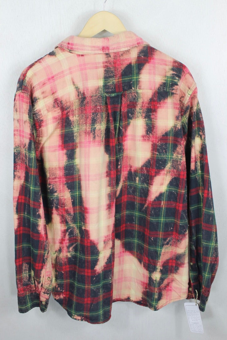 Vintage Red, Pink and Green Flannel Size Medium