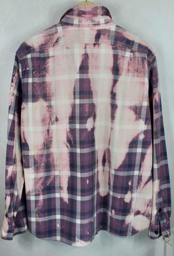Vintage Lavender, Pink and Cream Flannel Size Large