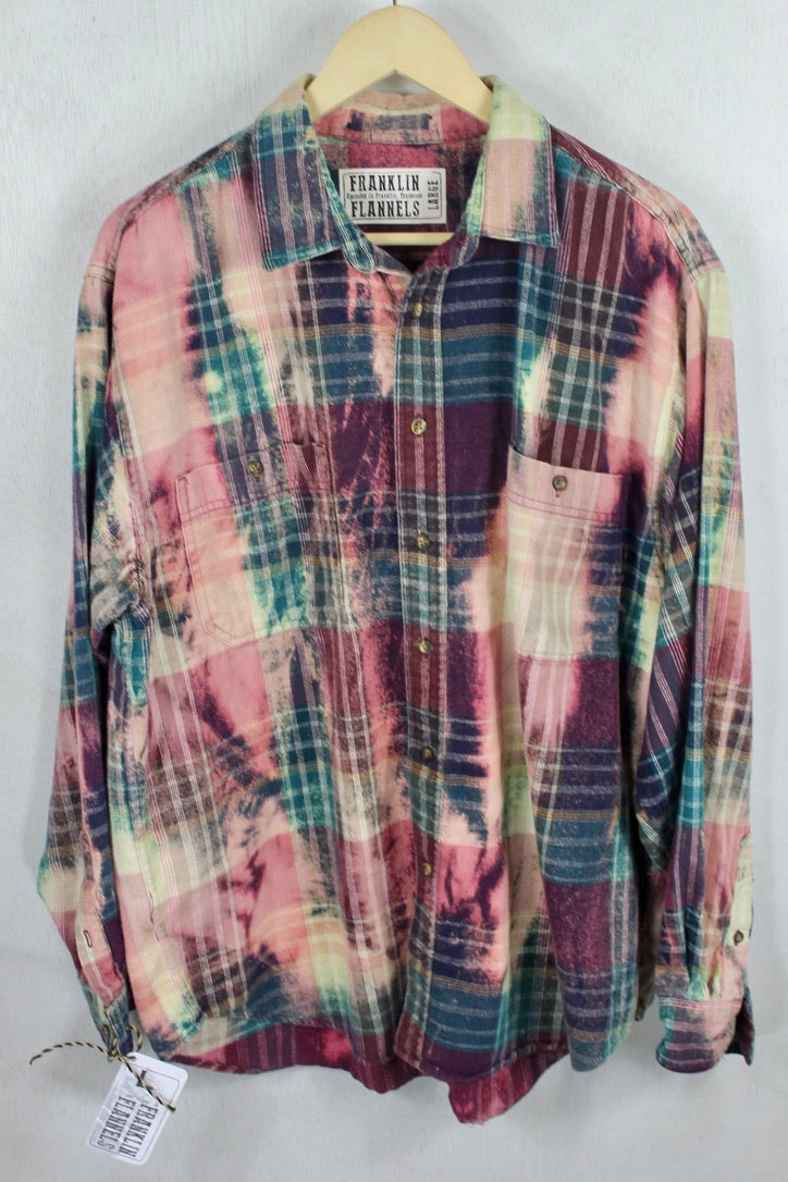 Vintage Purple, Green, and Blue Flannel Size Large
