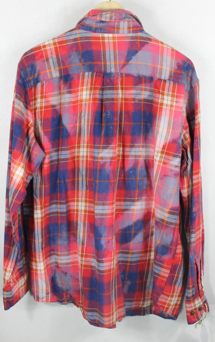 Vintage Red, Blue and White Flannel Size Large