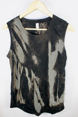 Black and Grey Reverse Dye Sleeveless Tee