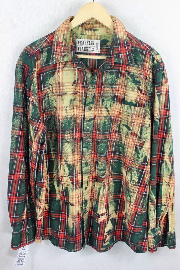 Vintage Red, Green, and Cream Flannel Size Large