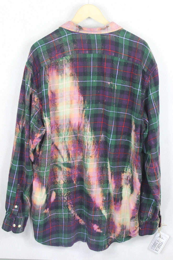 Vintage Green and Purple Flannel Size XL