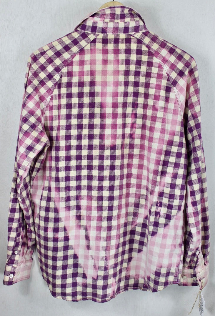 Vintage Purple, Pink and White Flannel Size Small