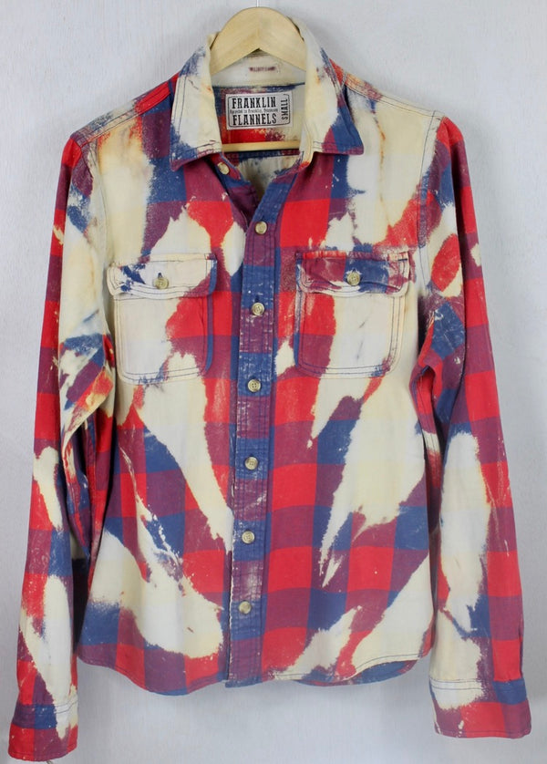 Vintage Red, White and Blue Flannel Size Small