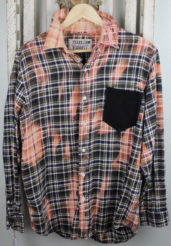 Vintage Rust, Olive, and Black Flannel Size Medium