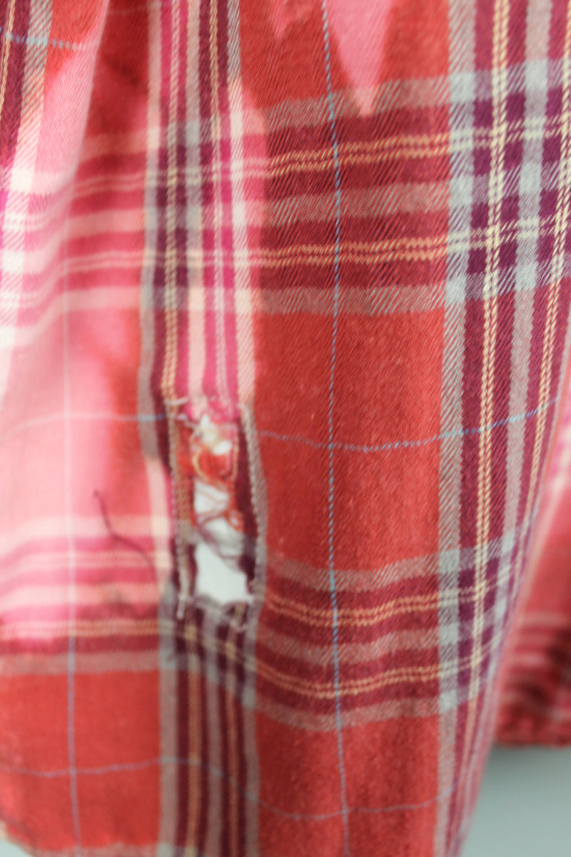 Vintage Red, Pink and Grey Flannel Size Large