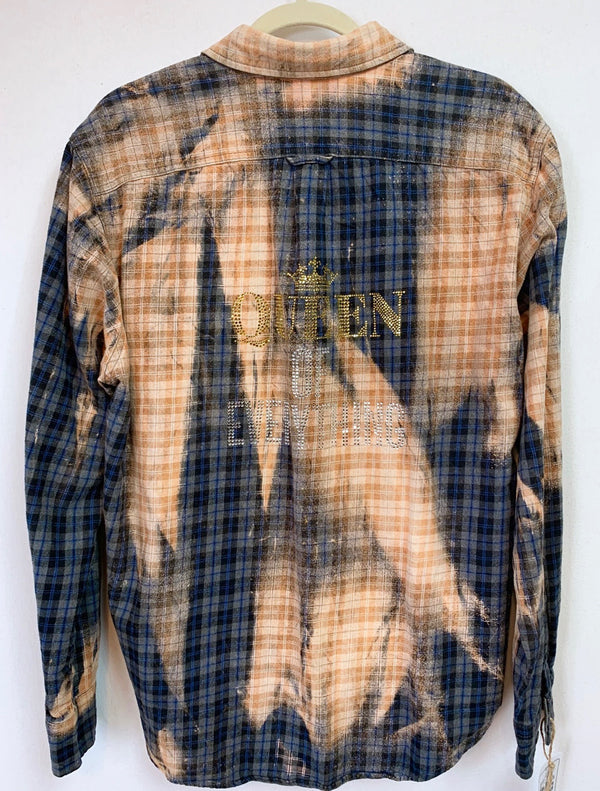 Fanciful Franklin Flannels in Gold, Black, Grey and Navy Blue Size Medium