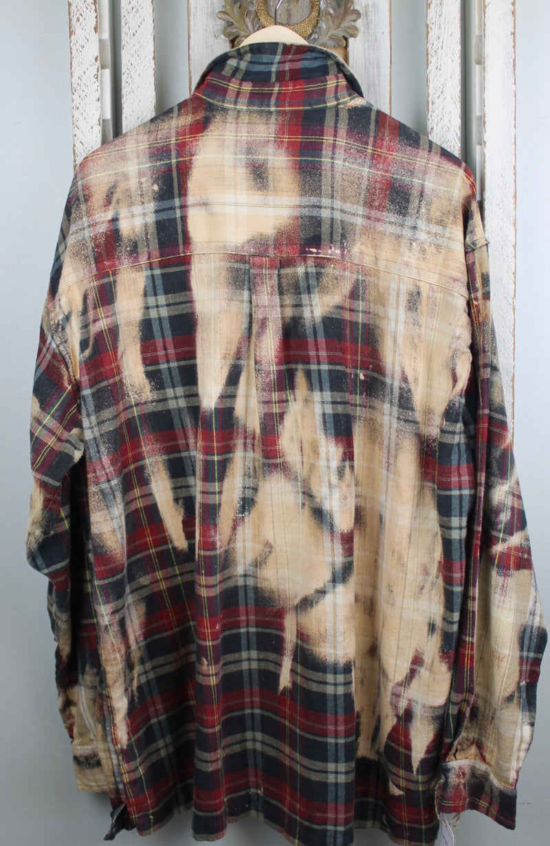 Vintage Red, Black, Hunter Green and Camel Flannel Size XL