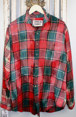 Vintage Red and Green Flannel Size XL