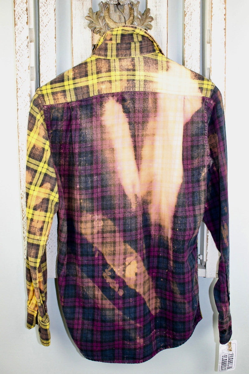 Vintage Purple, Black and Gold Flannel Size Small