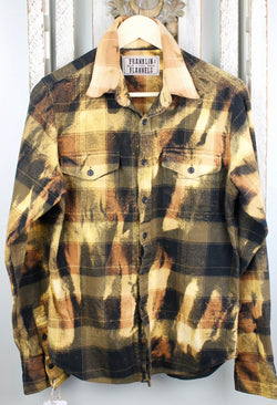 Vintage Black, Brown and Gold Flannel Size Small