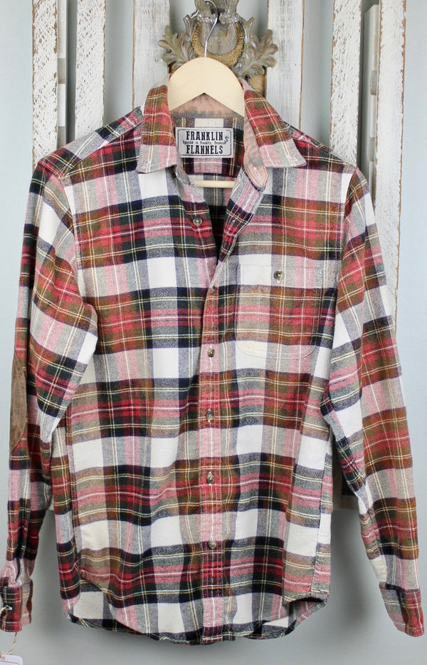 Vintage Red, Black and White Flannel Jacket Size Small