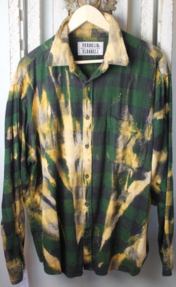 Vintage Green, Black, and Yellow Flannel Size Extra Large